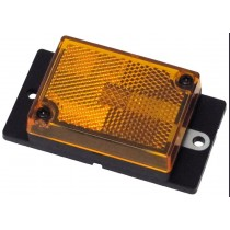 "2 3/4"" x 2"" - Amber - Ear Mount - Marker Light"