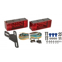"Submersible Low Profile LED Light Kit with 25' Wire Harness for Trailers Over 80"" Wide - No Marker Lights"