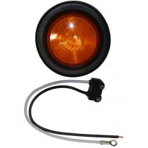 "2"" Round - Amber - Marker Light with Grommet & Plug"