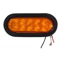 "6"" Oval LED Amber Turn Signal - with 10 LEDs"