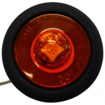"1"" Round - Amber - Marker Light with Grommet and Plug"