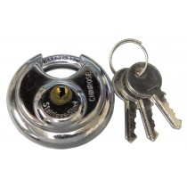 "1 7/8"" Round Lock with 9/32"" Hardened Lock Bolt"