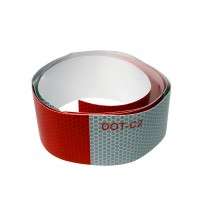 "Alternating 2"" x 4' Red and White Reflective Tape"