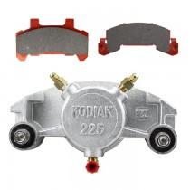 Kodiak Caliper 225 with Pads & Slider Pins - Fits 3,500 to 6,000 lbs. Axles - Dacromet Coated
