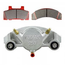 Kodiak Caliper 250 with Pads & Slider Pins - Fits 7,000 to 8,000 lbs. Rotors - Dacromet Coated