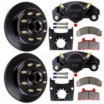 """Kodiak 13"""" Integral Hub/Rotor Single Axle Disc Brake Kit - 8 on 6 1/2"""" - E-Coat Finish"""