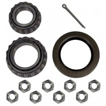 Bearings, Seal, and Lug Nuts Kit - Fits Kodiak Integral Rotor and Hub F5843