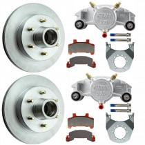 "Kodiak 12"" Integral Hub/Rotor Single Axle Disc Brake Kit - 6 on 5 1/2"" - Stainless Steel Calipers"