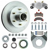 "Kodiak 12"" 6 Integral Hub/Rotor Disc Brake Assembly - 6 on 5 1/2"" - Dacromet Coated"