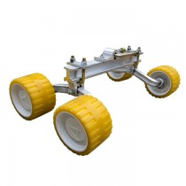 "LoadRite Quad Roller Assembly with 3"" x 5"" Yellow Rollers"