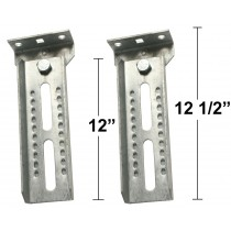 "12"" Bunk Brackets with Swivel - One Pair"