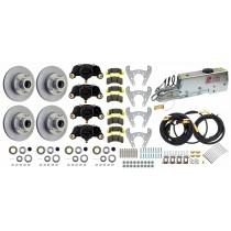 "Tie Down Engineering 9.6"" Eliminator Tandem Axle Disc Brake Kit - 5 on 4 1/2"" - Galv-X Coated Rotors"