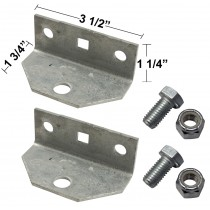 Replacement Swivel Brackets with Bolts and Nuts for Bunk Brackets - One Pair