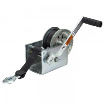 "Dutton-Lainson 2,500 lbs. Two Speed Hand Winch with 25' Strap - 10"" Handle"