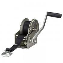 "Fulton 1,800 lbs. Single Speed Hand Winch with 20' Strap - 8"" Handle"