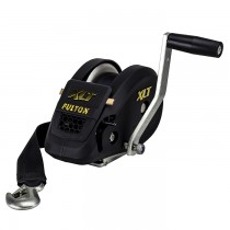 "Fulton XLT Series 1,500 lbs. Single Speed Hand Winch with 20' Strap - 8"" Handle"
