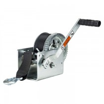 "Dutton-Lainson 3,200 lbs. Two Speed Hand Winch with 25' Strap - 10"" Handle"