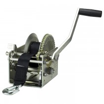 "Fulton 2,600 lbs. Two Speed Hand Winch with 20' Strap - 10"" Handle"