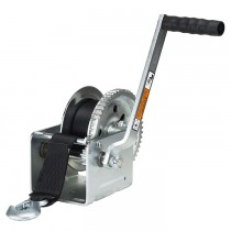 """Dutton-Lainson 1,800 lbs. Single Speed Hand Winch with 20' Strap - 9 1/2"""" Handle"""