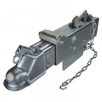 "Titan 12,500 lbs. Model 10 Actuator with 2 5/16"" Straight Coupler - Zinc Plated - Drum Brakes"