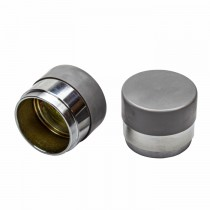 "2.328"" Bearing Protectors for Bearing 67048 - Chrome Plated with Plastic Cover - 1 Pair"