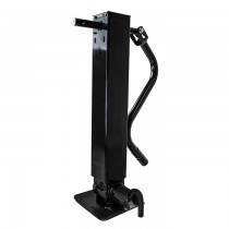 """Pro Series 12,000 lbs. 4"""" Square Tube Weld-On Sidewind Jack with Drop Leg and Spring Return - 12 1/2"""" Travel"""