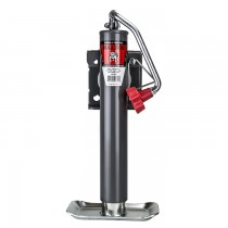 "Bulldog 2,000 lbs Topwind Weld On Round Swivel Jack - 10"" Travel"