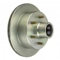 "UFP DB35 12"" Integral Hub/Rotor with 2.44"" Outer Bore - 6 on 5 1/2"" - Zinc Plated"