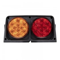 Wesbar LED Dual Heavy Duty AG Light with 4 Way Square Plug - Left Hand