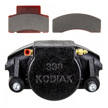 Kodiak Caliper 338 with Pads & Slider Pins - Fits 9,000 to 10,000 lbs. Axles - E-Coated