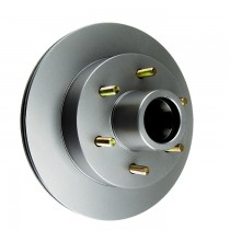 "Tie Down Engineering 12"" Eliminator Integral Hub/Rotor - 6 on 5 1/2"" - Galv-X Coated"