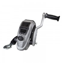 Fulton F2™ Series 2,000 lbs. Single Speed Hand Winch with 20' Strap - 4 Position Handle