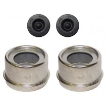 """1.98"""" (1 31/32"""") Zinc Plated E-Z Lube® Grease Cap Kit (1 Pair)"""