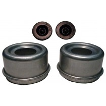 """2.45"""" (2 7/16"""") Zinc Plated E-Z Lube® Grease Cap Kit (1 Pair)"""
