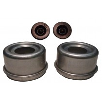 """2.72"""" (2 23/32"""") Zinc Plated E-Z Lube® Grease Cap Kit (1 Pair)"""