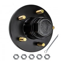 "5 Bolt on 4 1/2"" Vortex Hub with 1 3/8"" x 1 1/16"" Bearings (L68149 x L44649) - E-Coat Finish"