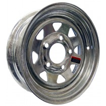 """12"""" x 4"""" Wide Galvanized Trailer Rim with 5 Lugs on 4 1/2"""" Bolt Circle"""