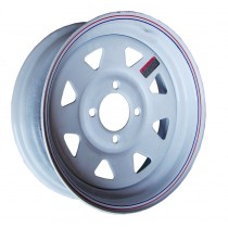 "13"" x 4 1/2"" Wide Painted Trailer Rim with 4 Lugs on 4"" Bolt Circle"