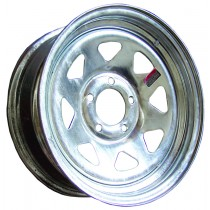 """13"""" x 4 1/2"""" Wide Galvanized Trailer Rim with 5 Lugs on 4 1/2"""" Bolt Circle"""