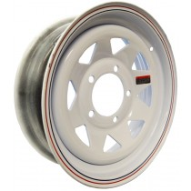 "15"" x 5"" Wide Painted Trailer Rim  5 Lug on 5 1/2"" Bolt Circle"