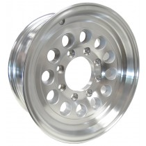 "16"" x 6 1/2"" Wide Aluminum Trailer Rim with 8 Lugs on 6 1/2"" Bolt Circle"
