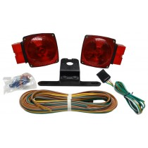 "Submersible Incandescent Light Kit for Trailers Over 80"" Wide with 25' Wire Harness - No Marker Lights"