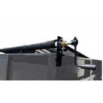 5' x 12' Mesh Tarp and Hardware Tarp Roller Kit for Dump Trailers