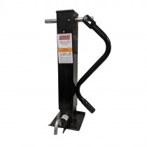 "RAM 12,000 lbs. Weld On Square Tube Sidewind Jack with Drop Leg and Return Spring - 12"" Travel"