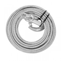 "Winch Cable and Hook - 50' x 7/32"" Cable Diameter"