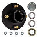 "4 Bolt on 4"" Trailer Hub with 1"" Bearings (L44643)"