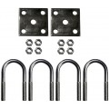 "1 3/4"" Round Axle U-Bolt Kit - 4.25"" Long"