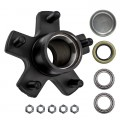 "5 Bolt on 4 1/2"" Trailer Hub with 1"" Bearings (L44643)"