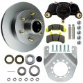 "Tie Down Engineering 12"" Integral Disc Brake Assembly - 6 on 5 1/2"" - Galv-X Coated Rotors"