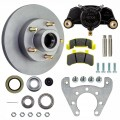 "Tie Down Engineering 9.6"" Integral Disc Brake Assembly - 5 on 4 1/2"" - Galv-X Coated Rotors"